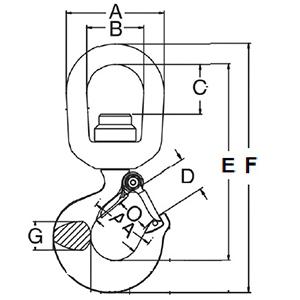 Swivel Hook Latch measurements